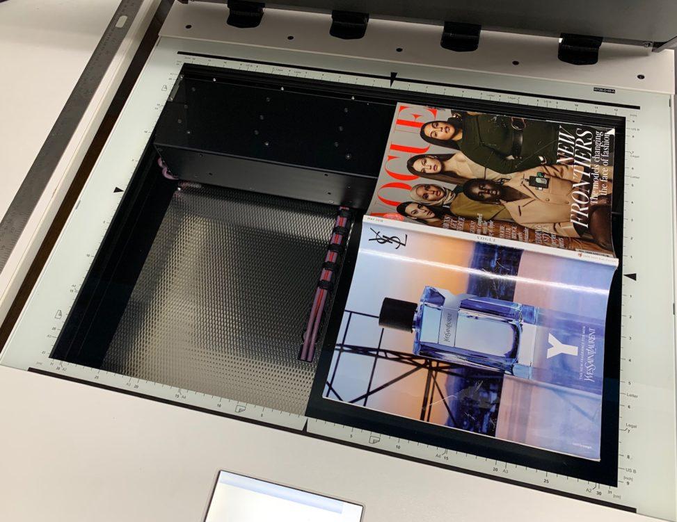 Large format flatbed scanner